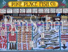 Paintings of seattle downtown pike place market space for Fishing store seattle