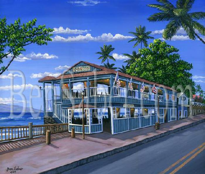 Cheeseburger In Paradise Painting Maui Hawaii Picture